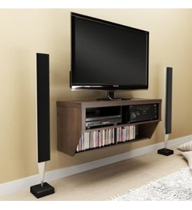 Espresso TV Stand and Entertainment Console Image