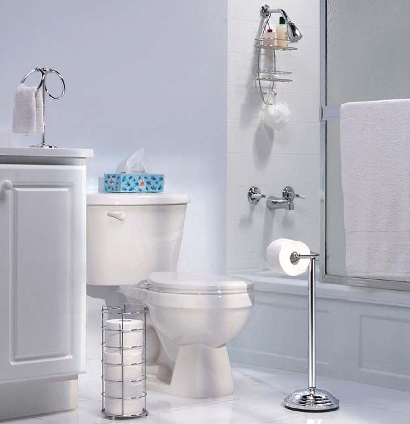 Essentials four piece bathroom gift set by taymor in for Bathroom decor essentials