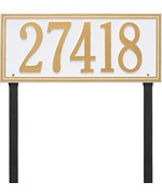 Estate Lawn Address Sign - Single Line