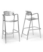Ethan Modern Aluminum Bar Stool- Set of 2 by Wholesale Interiors