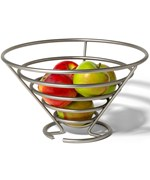 Euro Fruit Basket - Satin Nickel