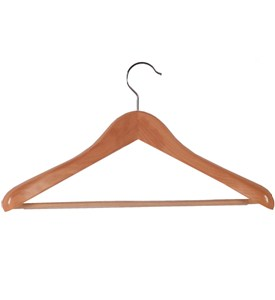 Euro Wood Suit Hanger - Natural Image