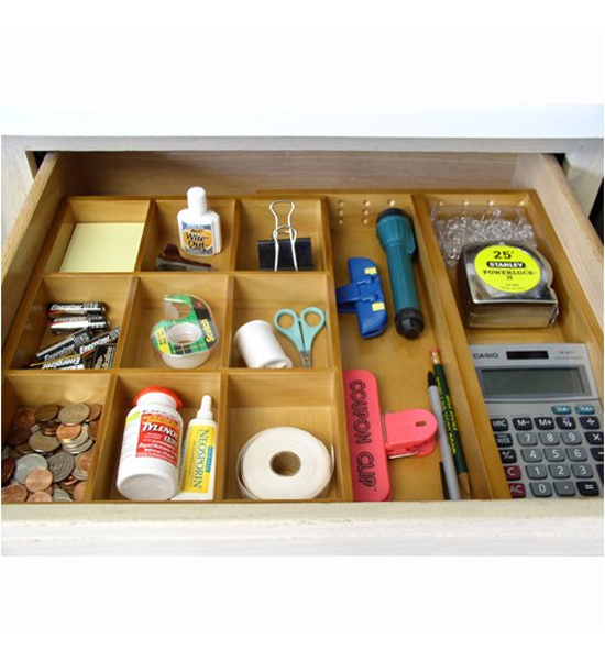 Organization Ideas For Junk Drawers: Expandable Junk Drawer Organizer In Desk Drawer Organizers