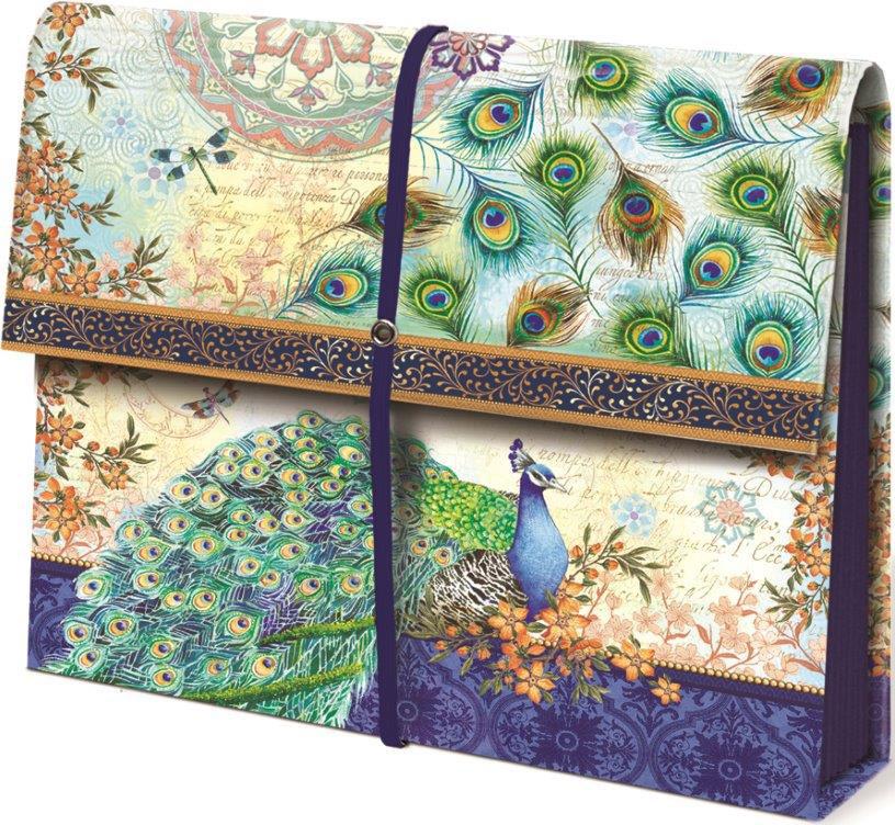 Charming Expanding File Folder   Peacock Image