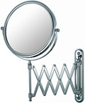 Extendable Wall Mirror - Chrome