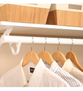 Extending Clothes Rod - White Image