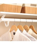 Extending Clothes Rod - White