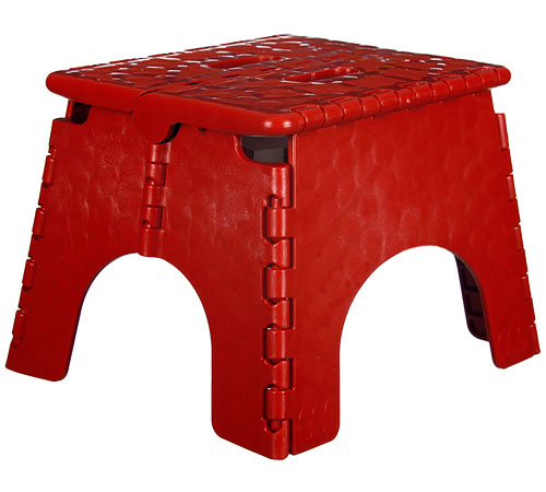 E Z Foldz Folding Step Stool Red In Step Stools