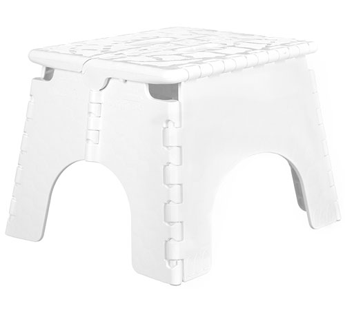E Z Foldz Folding Step Stool White In Step Stools