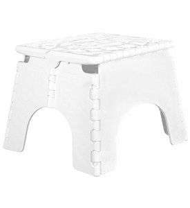 E-Z Foldz Folding Step Stool - White Image