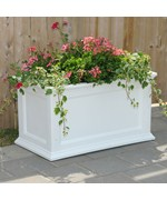 Fairfield Rectangle Plastic Planters by Mayne