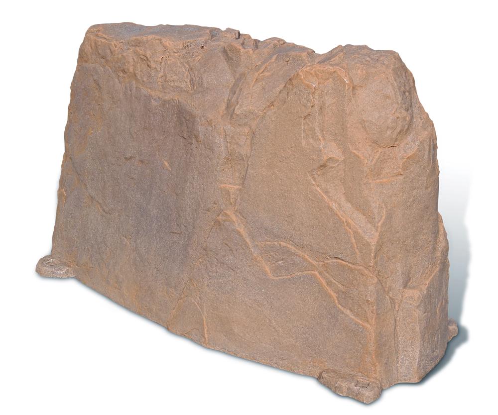 Fake landscape rock long in fake rocks for Landscape rock utility cover