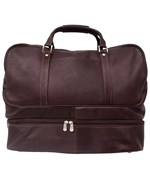 Leather False-Bottom Sports Bag by Piel Leather