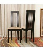 Farrington Dark Brown Modern Dining Chair - Set of 2 - by Wholesale Interiors - CB-2411YBH-DW10