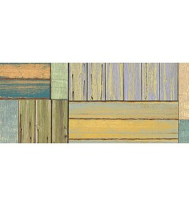 Faux Floor Rug - Patchwork Wood Image