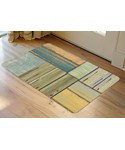 Faux Floor Rug - Patchwork Wood