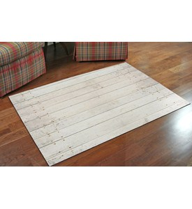 Faux Floor Rug - White Wash Image