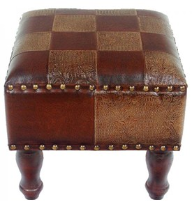 Faux Leather Footstool Image