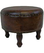 Faux Leather Round Stool