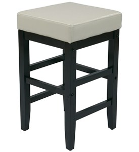 Faux Leather Square Bar Stool Image