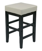 Faux Leather Square Bar Stool