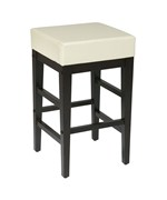 Faux Leather Square Barstool by Office Star