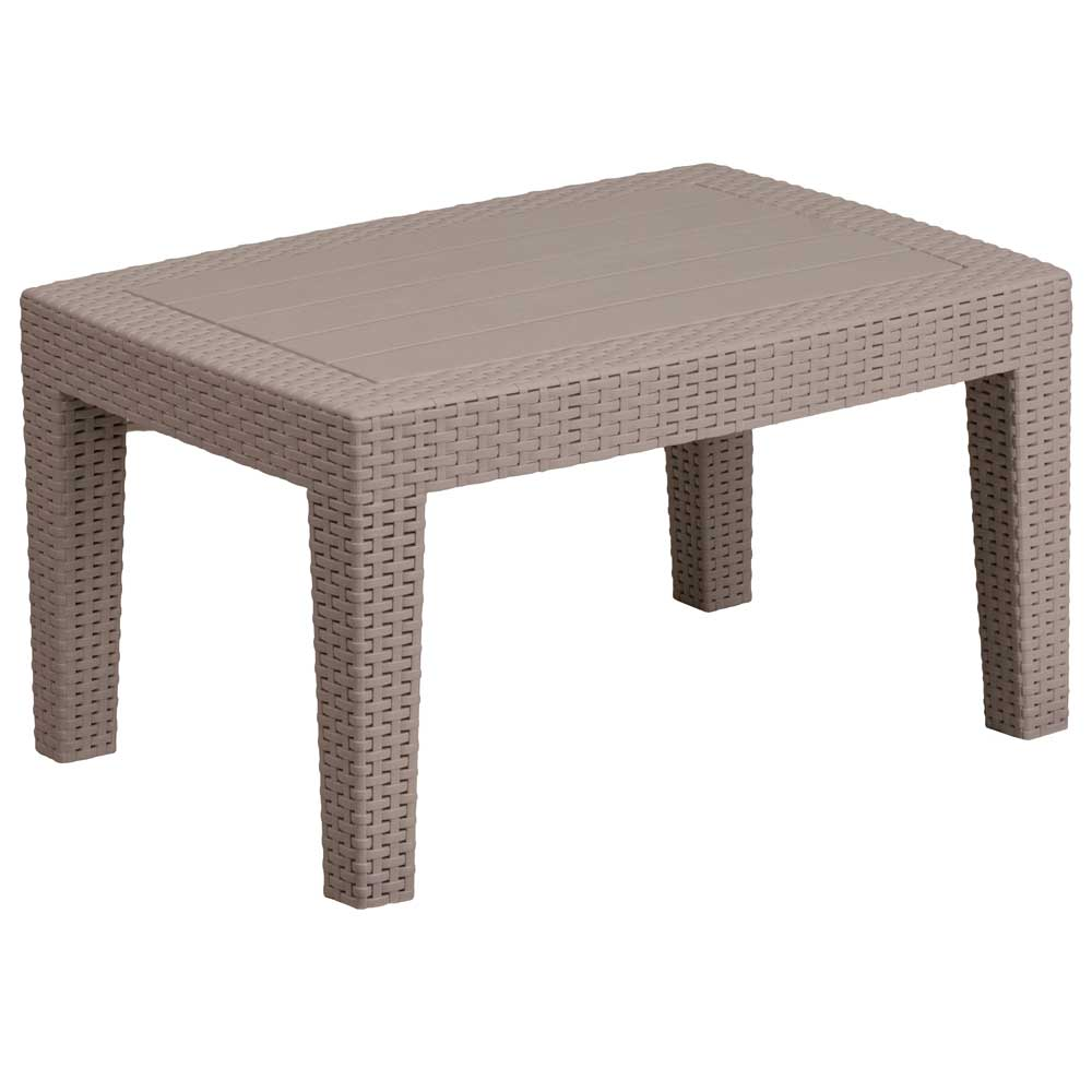 Faux rattan coffee table charcoal in outdoor coffee tables for Charcoal coffee table
