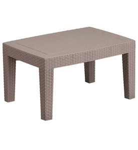 Faux Rattan Coffee Table - Charcoal Image