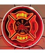 Fire Department Neon Sign by Neonetics
