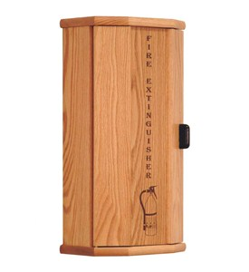 Fire Extinguisher Cabinet - Oak Image
