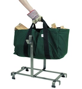 Firewood Carrier Bag and Rack Image