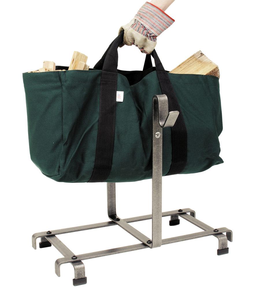 Firewood Carrier Bag And Rack In Indoor Firewood Racks