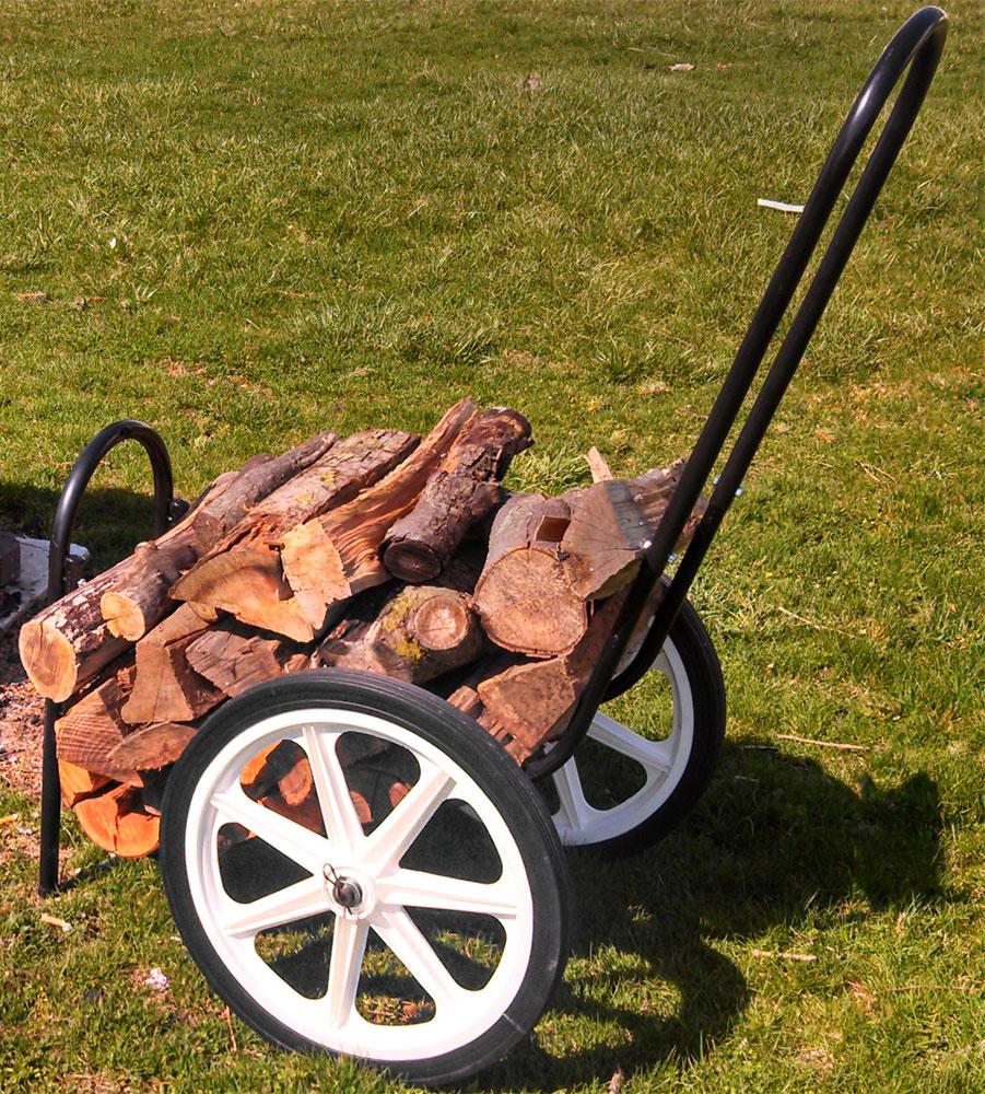 Firewood Cart In Outdoor Firewood Racks