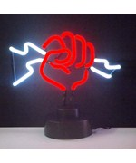 Fist with Lightning Neon Sculpture - by Neonetics