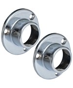 Fixed Round Rod Flanges - Chrome