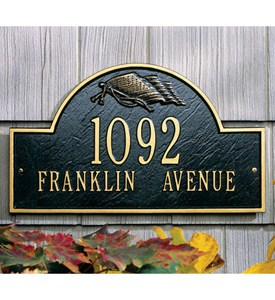 Flag Arch Wall Address Plaque - Two-Line Image