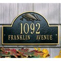 Flag Arch Wall Address Plaque - Two-Line