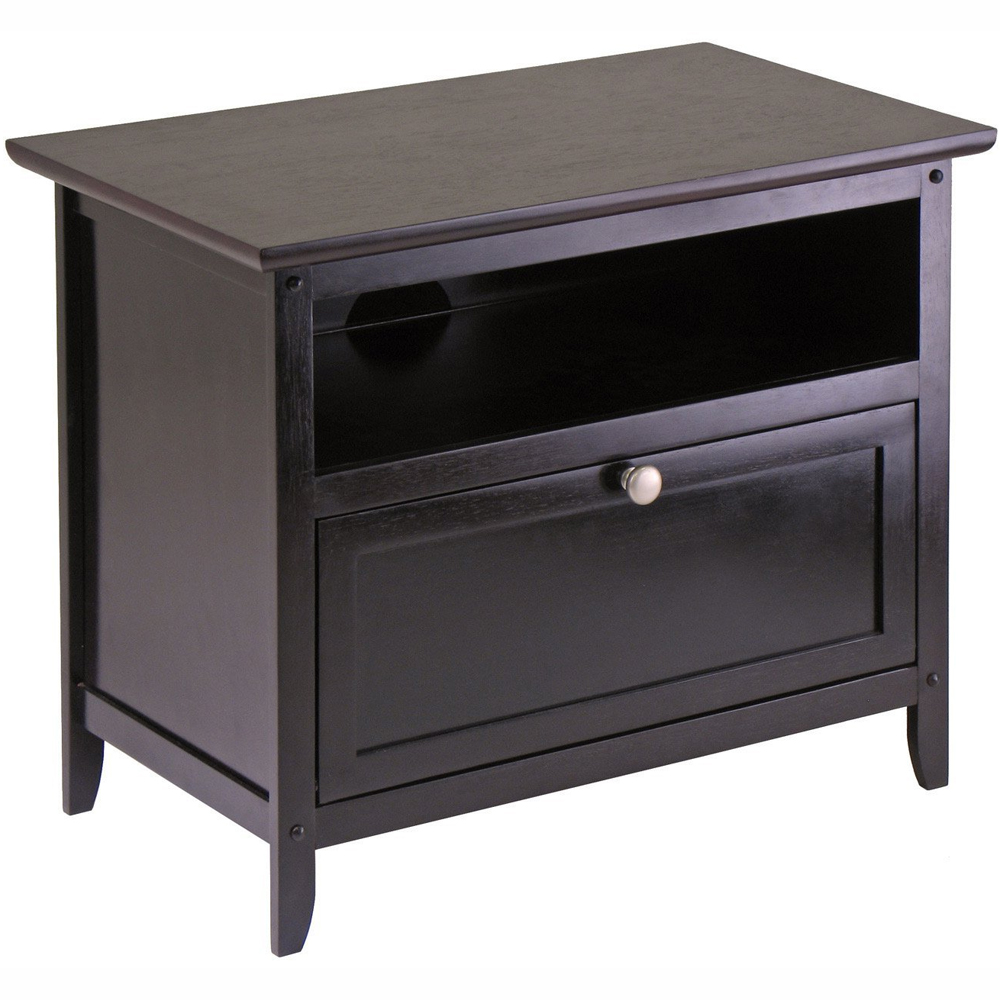 Flat Screen Television Stand Espresso In Tv Stands