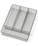 Nickel Wire Flatware Drawer Organizer