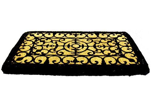 Decorative Coir Doormat Fleur De Lis In Doormats
