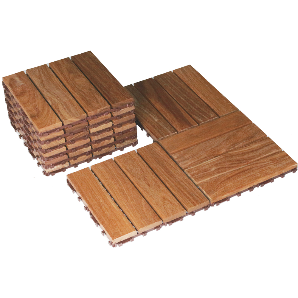 Interlocking Floor Tiles 12 X 12 Set Of 10 In Patio Flooring