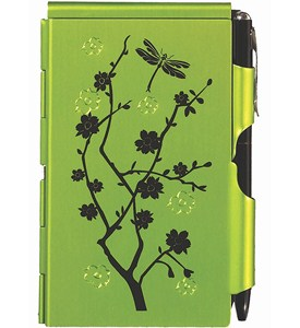 Flip Notes Pen and Notepad - Lime Blossom Image