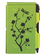 Flip Notes Pen and Notepad - Lime Blossom