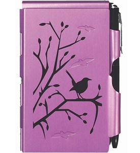 Flip Notes Pen and Notepad - Plum Wren Image