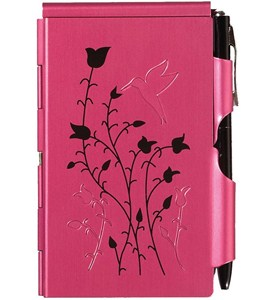 Flip Notes Pen and Notepad - Raspberry Hummingbird Image