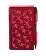 Flip Notes Pen and Notepad - Ruby