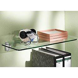 floating glass shelf with brackets