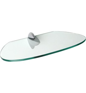 Floating Shelf - Kidney Shaped Glass Image