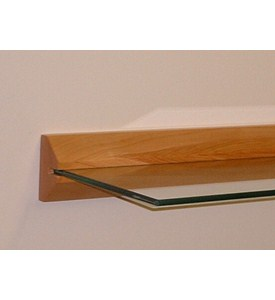 Floating Shelf - Wood and Glass Image