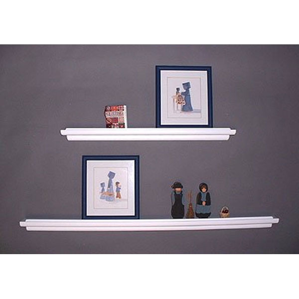 floating wall shelf display ledge in wall mounted shelves. Black Bedroom Furniture Sets. Home Design Ideas
